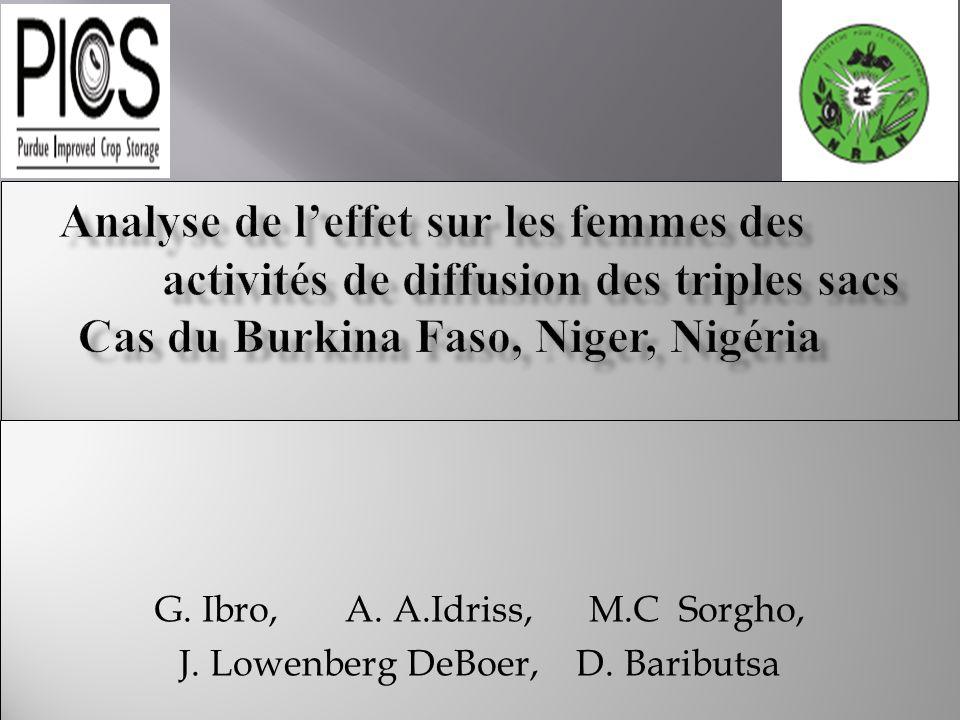 G. Ibro, A. A.Idriss, M.C Sorgho, J. Lowenberg DeBoer, D.