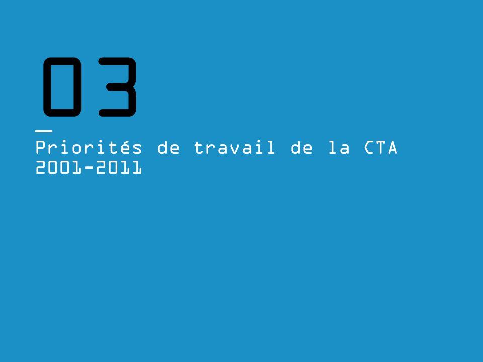 03 Priorités de travail de la CTA 2001-2011