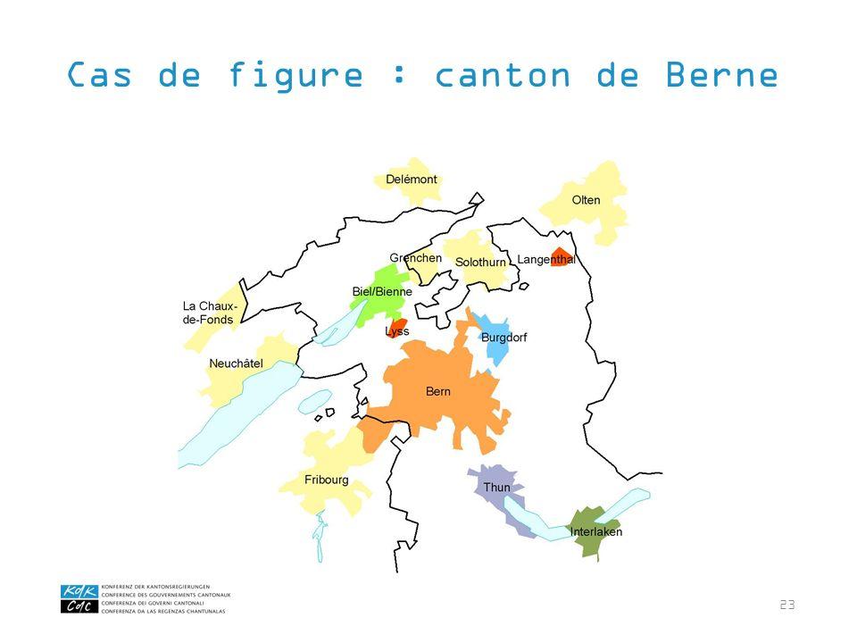 23 Cas de figure : canton de Berne