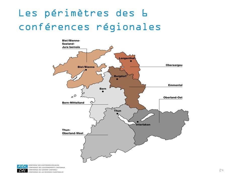 24 Les périmètres des 6 conférences régionales
