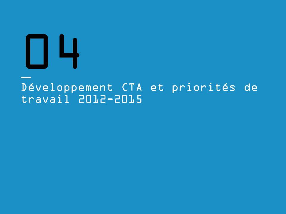 04 Développement CTA et priorités de travail 2012-2015
