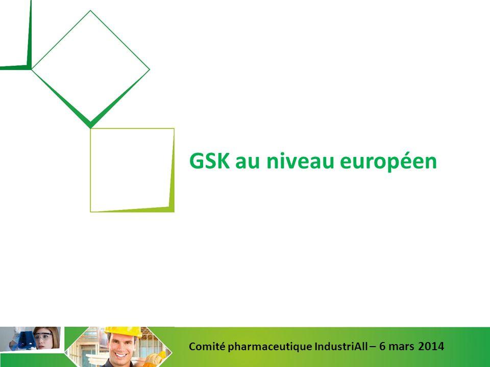 GSK au niveau européen Comité pharmaceutique IndustriAll – 6 mars 2014
