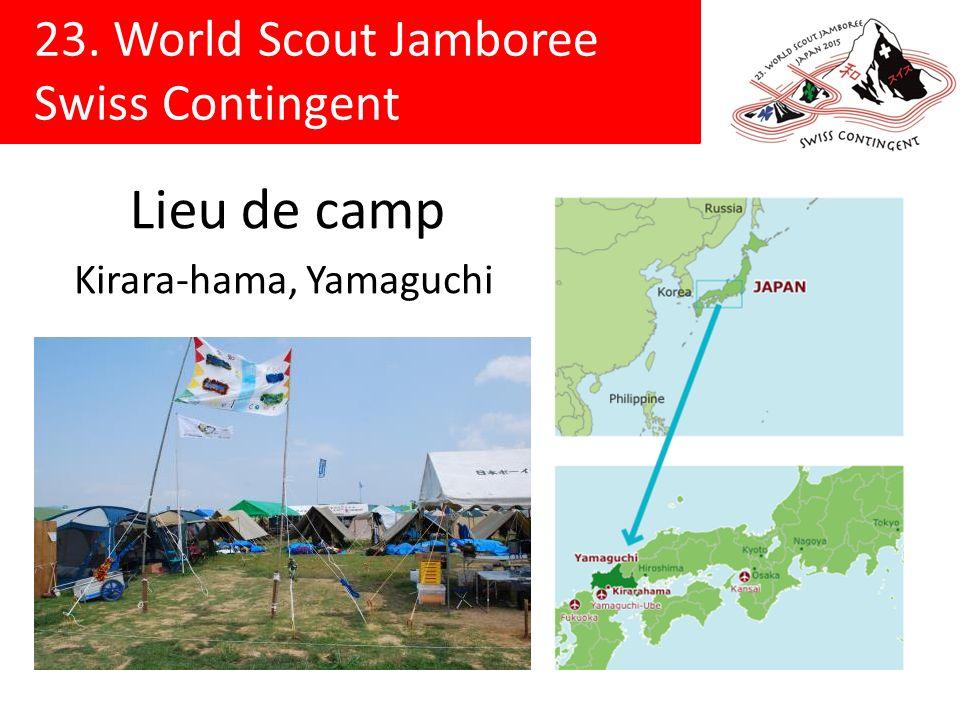 23. World Scout Jamboree Swiss Contingent Lieu de camp Kirara-hama, Yamaguchi