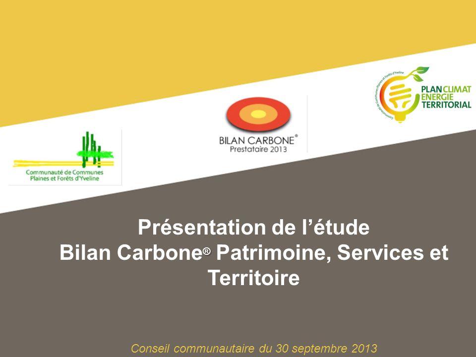 12Bilan Carbone ® Patrimoine, Services et Territoire de la CCPFY - Conseil communautaire du 30 septembre 2013 Méthode de quantification des émissions de Gaz à effet de serre des activités de la collectivité.