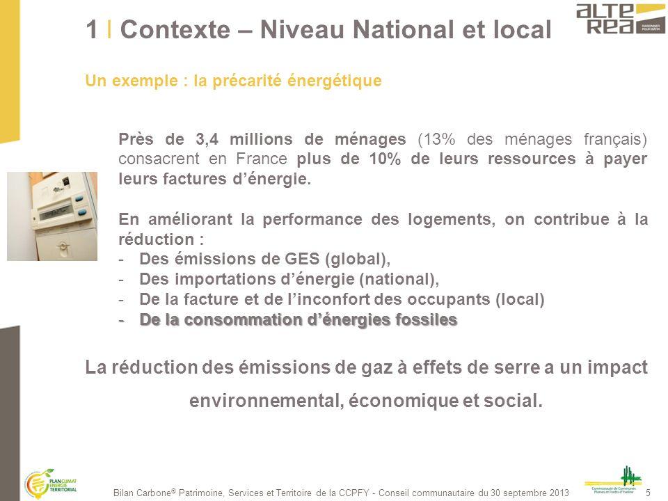 6Bilan Carbone ® Patrimoine, Services et Territoire de la CCPFY - Conseil communautaire du 30 septembre 2013 2 Contexte du projet