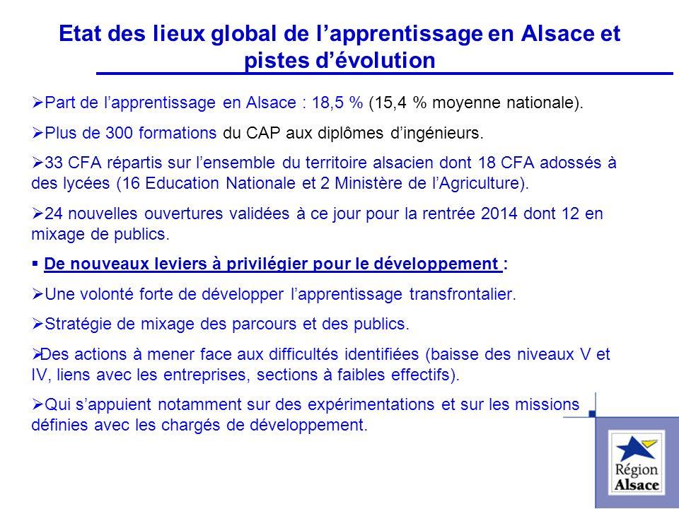 FI&FPCFI&FPC Etat des lieux global de lapprentissage en Alsace et pistes dévolution Part de lapprentissage en Alsace : 18,5 % (15,4 % moyenne national