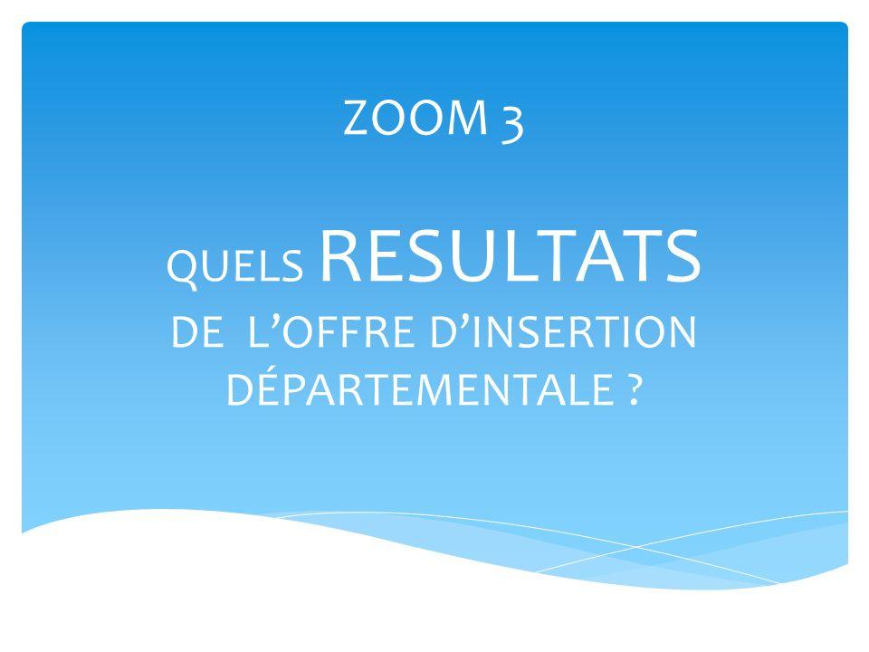 ZOOM 3 QUELS RESULTATS DE LOFFRE DINSERTION DÉPARTEMENTALE ?