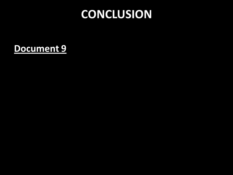 CONCLUSION Document 9
