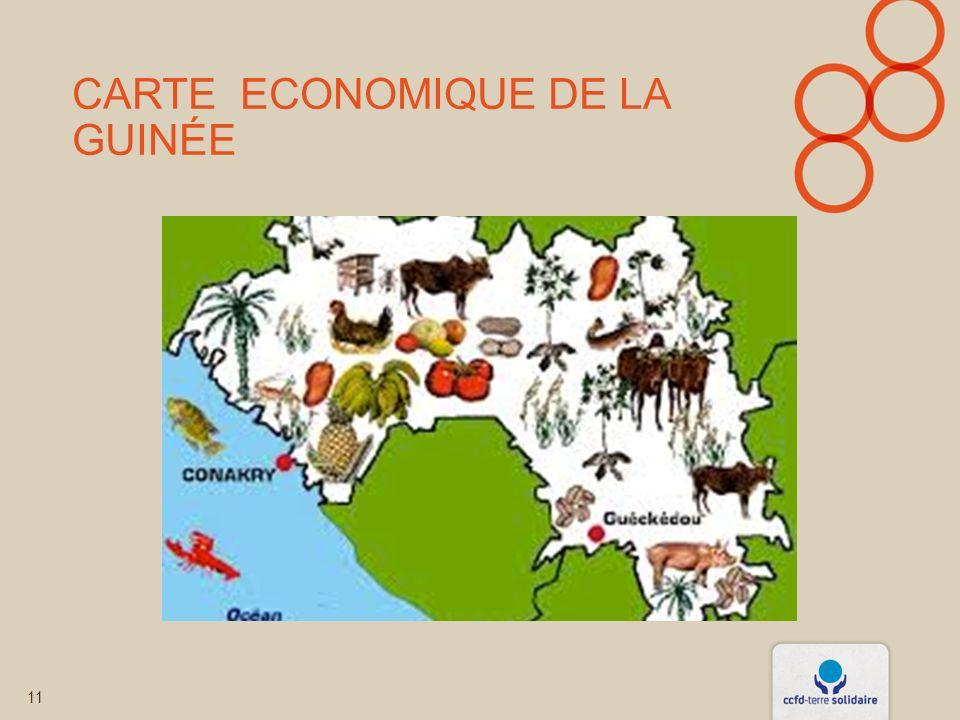 CARTE ECONOMIQUE DE LA GUINÉE 11