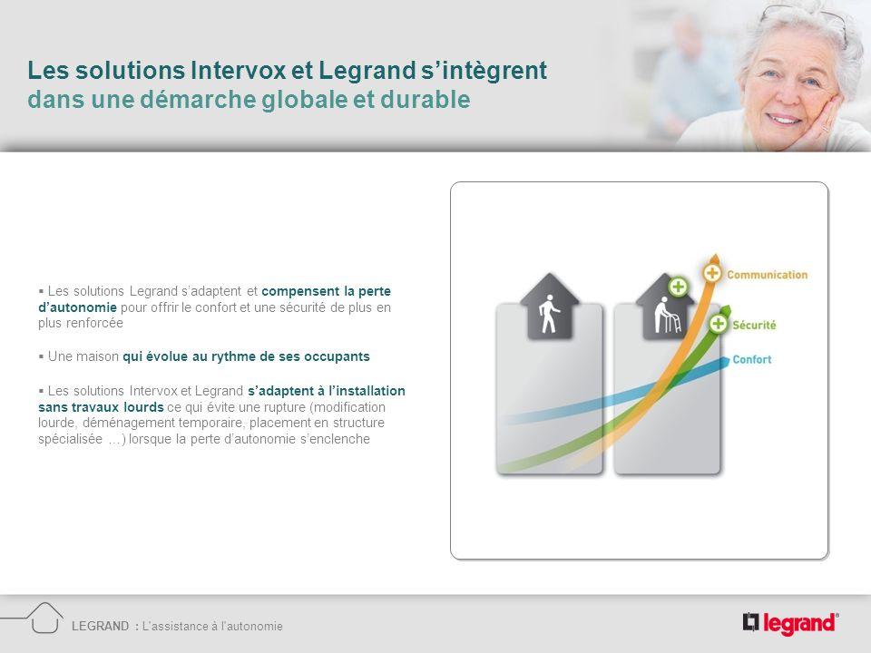 Les solutions Intervox et Legrand sintègrent dans une démarche globale et durable LEGRAND : L'assistance à l'autonomie Les solutions Intervox et Legra