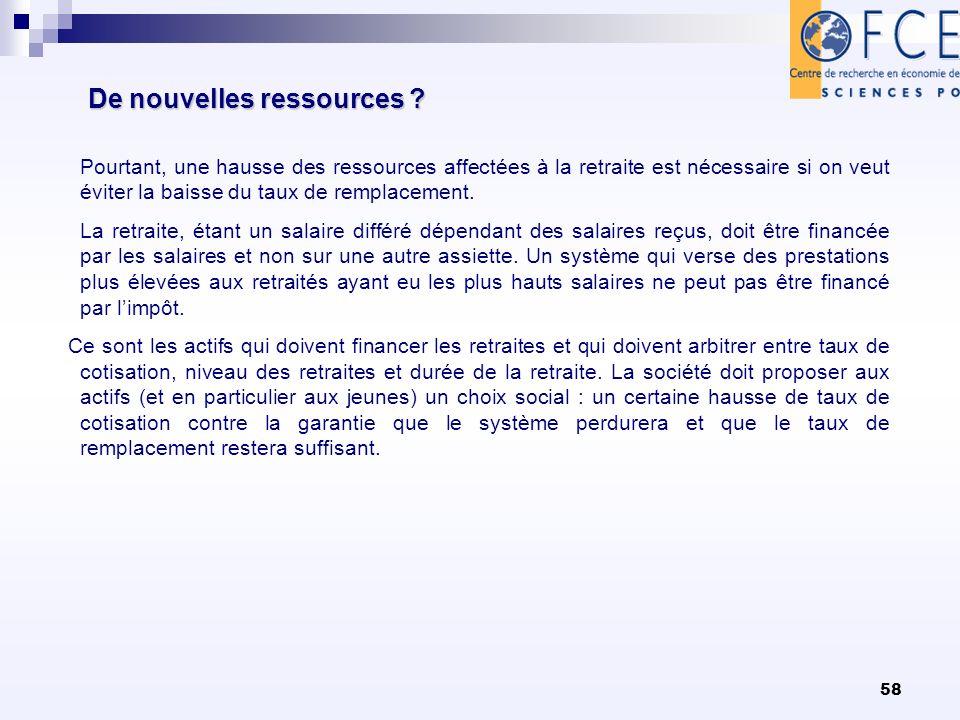 58 De nouvelles ressources .