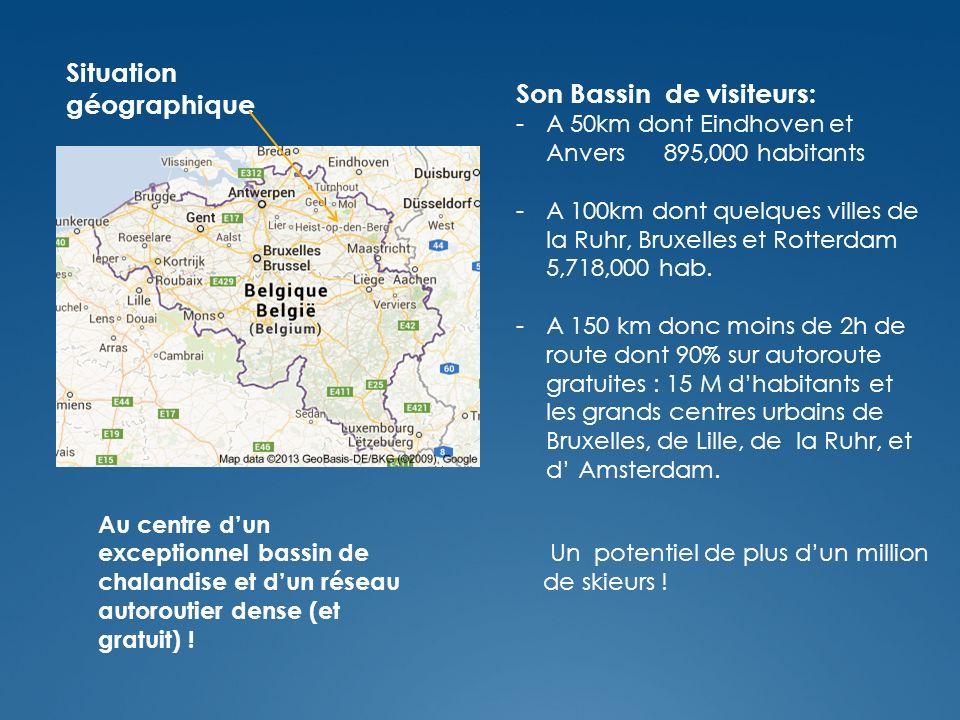 Situation géographique Au centre dun exceptionnel bassin de chalandise et dun réseau autoroutier dense (et gratuit) .