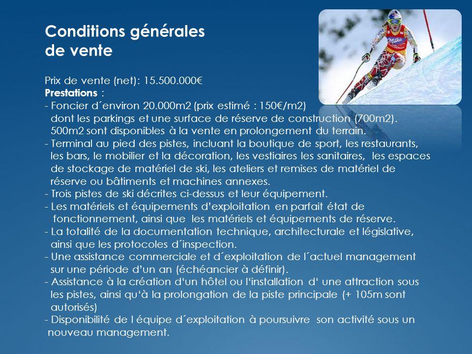 Conditions générales de vente Prix de vente (net): 15.500.000 Prestations : - Foncier d´environ 20.000m2 (prix estimé : 150/m2) dont les parkings et une surface de réserve de construction (700m2).