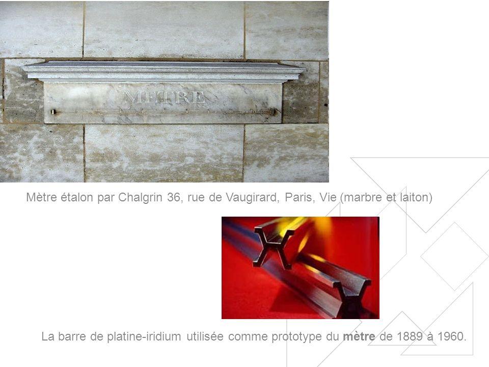 La barre de platine-iridium utilisée comme prototype du mètre de 1889 à 1960.