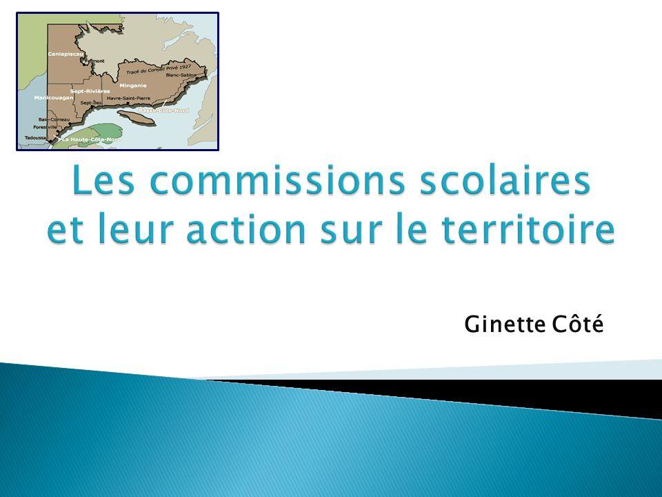 Mission et responsabilités Portrait des commissions scolaires de la Côte-Nord Les enjeux et les défis Exemples de partenariats CSE et organismes