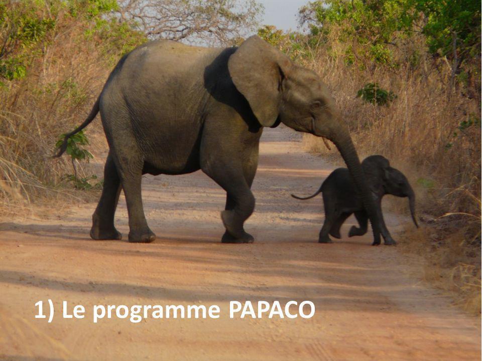 PAPACO : pourquoi ce programme 2003/2005 : points clefs 1) Situation critique de la biodiversité (et des AP) en ACO 2) Engagements internationaux pour une amélioration de la gestion des AP (ex : PoWPA de la CDB en 2004) 3) Intérêt commun de lUICN et de la France (discussions initiées au congrès mondial de la nature à Bangkok, en 2004) Inclusion dun volet spécifique sur les AP africaines dans le premier accord cadre en fin 2005… support initial du développement du programme PAPACO Forte adéquation des attentes des deux partenaires et des moyens à mobiliser (projets, expertise…)