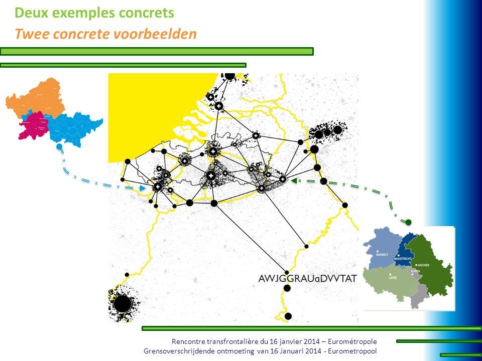 Rencontre transfrontalière du 16 janvier 2014 – Eurométropole Grensoverschrijdende ontmoeting van 16 Januari 2014 - Eurometropool Deux exemples concre