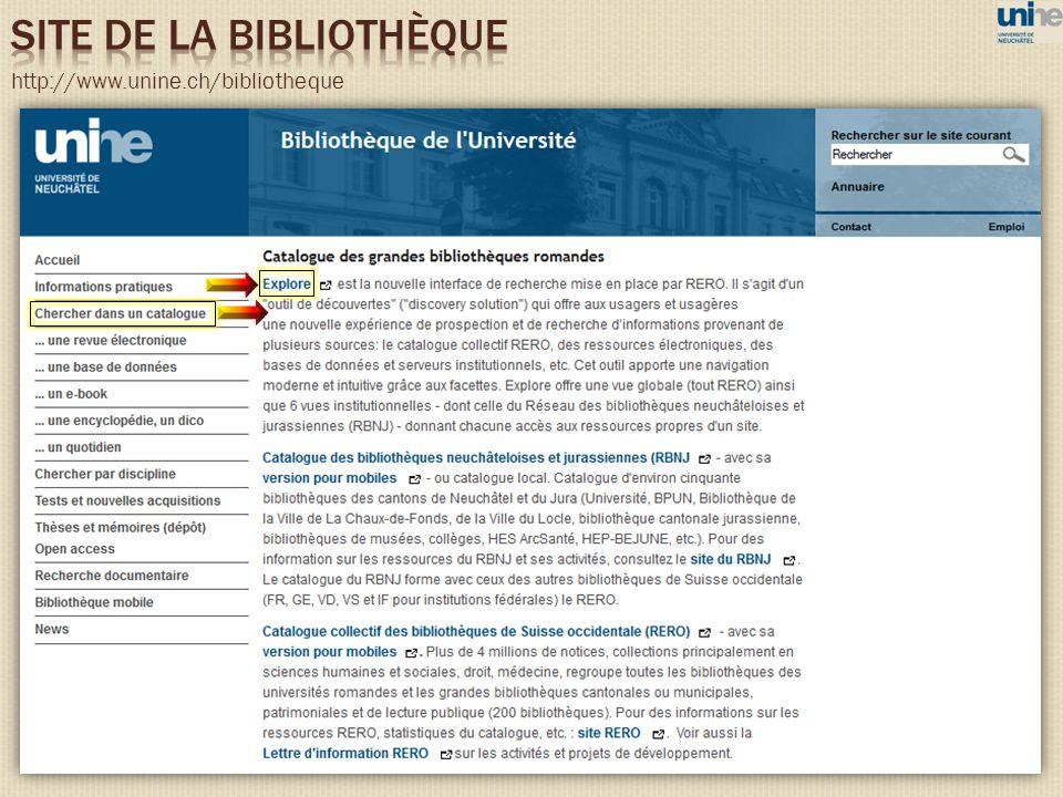 http://www.unine.ch/bibliotheque
