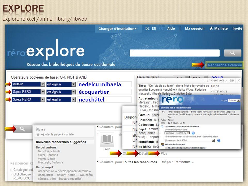 explore.rero.ch/primo_library/libweb écoquartier nedelcu mihaela 2010 neuchâtel