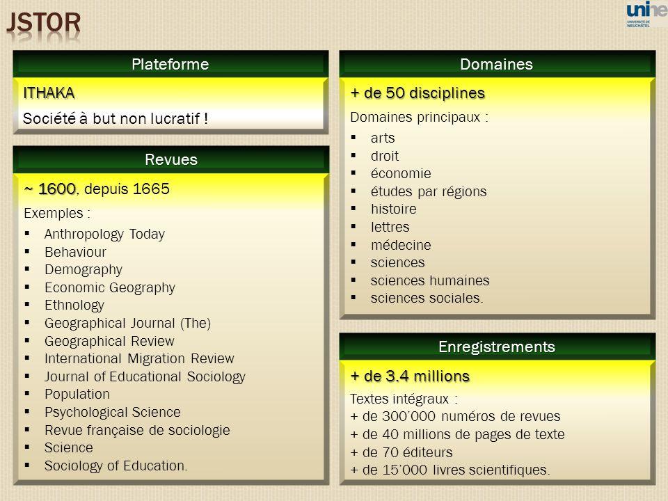 + de 50 disciplines Domaines principaux : arts droit économie études par régions histoire lettres médecine sciences sciences humaines sciences sociale