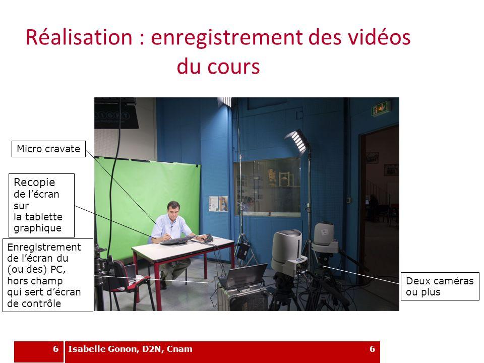 6 Réalisation : enregistrement des vidéos du cours 6 Recopie de lécran sur la tablette graphique Enregistrement de lécran du (ou des) PC, hors champ q