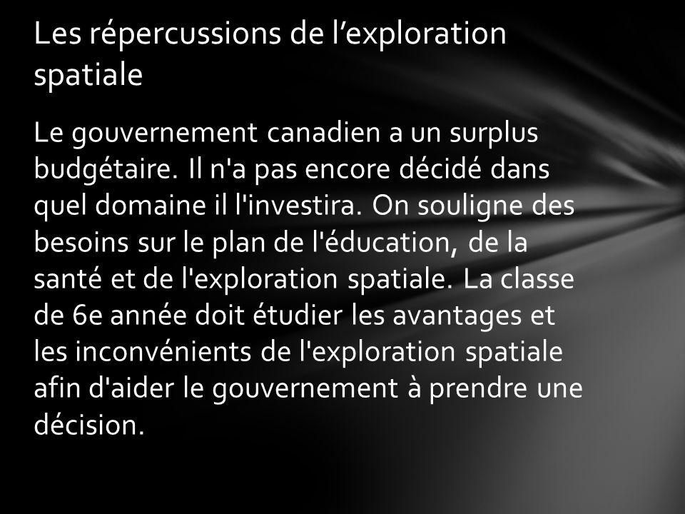 Le gouvernement canadien a un surplus budgétaire.