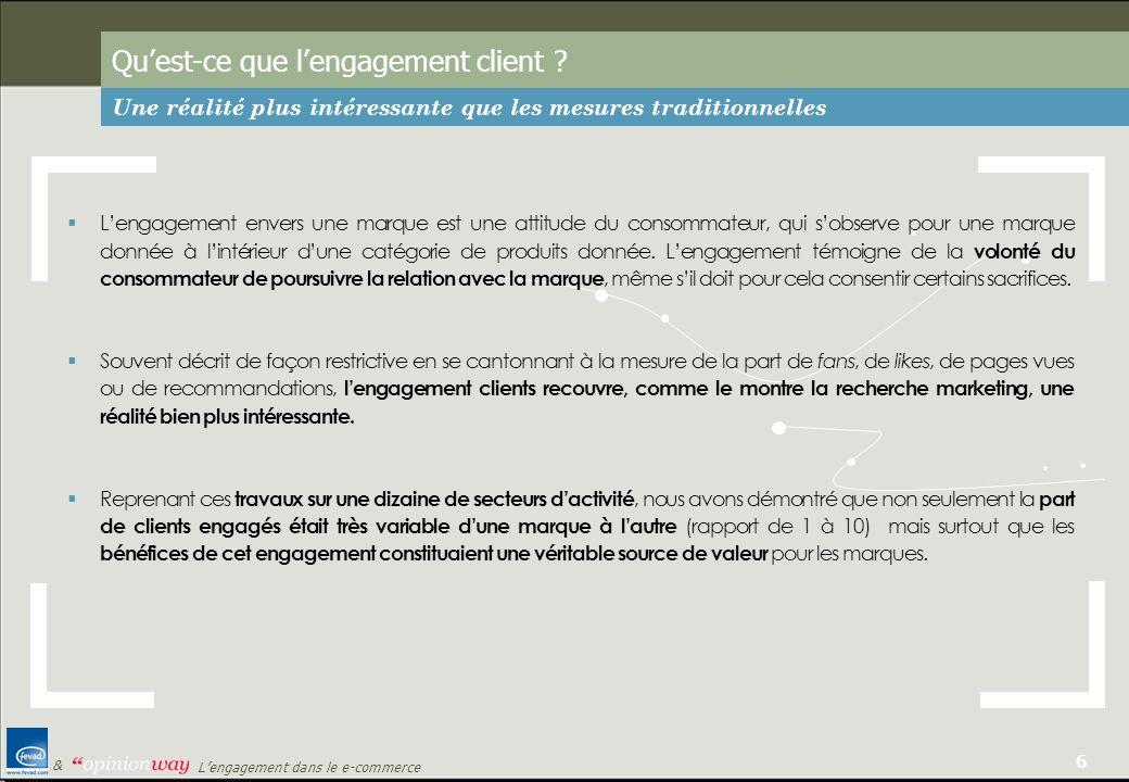 7 Lengagement dans le e-commerce & Pourquoi sintéresser à lengagement client .