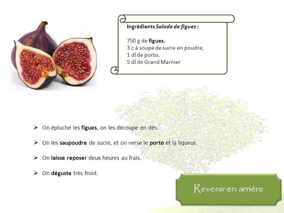 Ingrédients Figues fourrées au chocolat : 12 figues sèches, 1 c à soupe de chocolat en copeaux, 3 c à soupe de poudre d'amandes, 12 amandes On ôte la