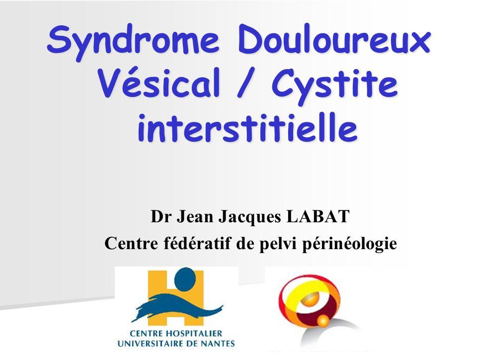 Dr Jean Jacques LABAT Centre fédératif de pelvi périnéologie Syndrome Douloureux Vésical / Cystite interstitielle