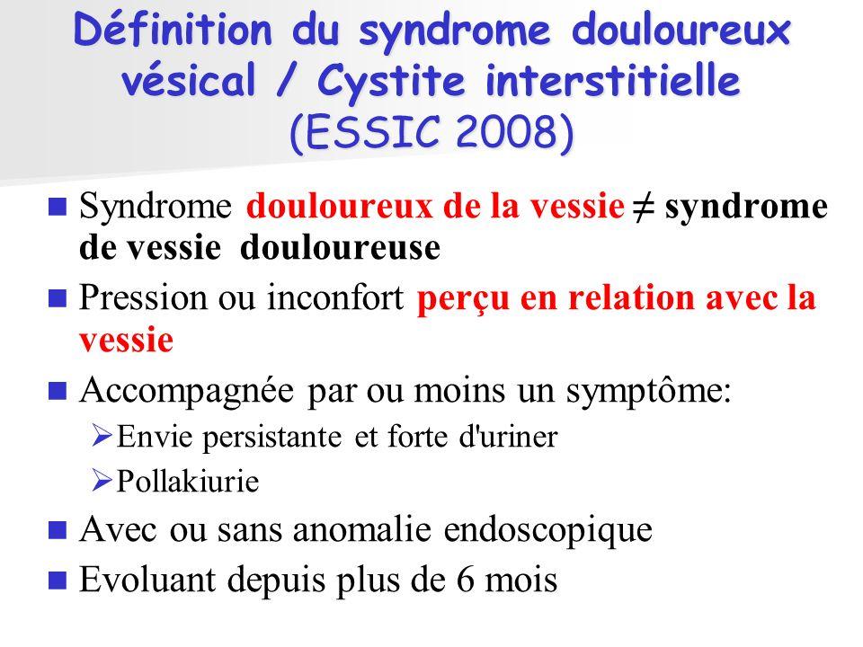 Cystoscopie Normale 1.Hydrodistension courte Souvent Echec donc pas dhydrodistension longue 2.