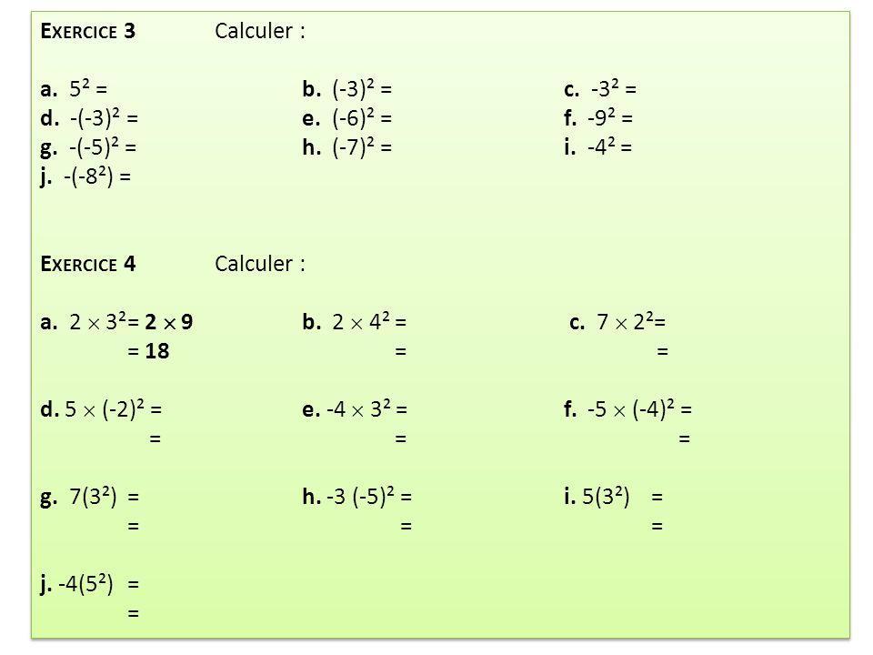 Exercice: Calculer A et B