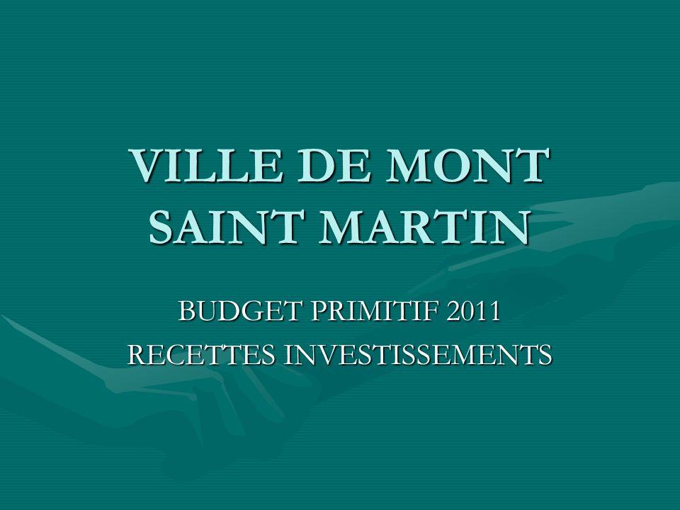 VILLE DE MONT SAINT MARTIN BUDGET PRIMITIF 2011 RECETTES INVESTISSEMENTS