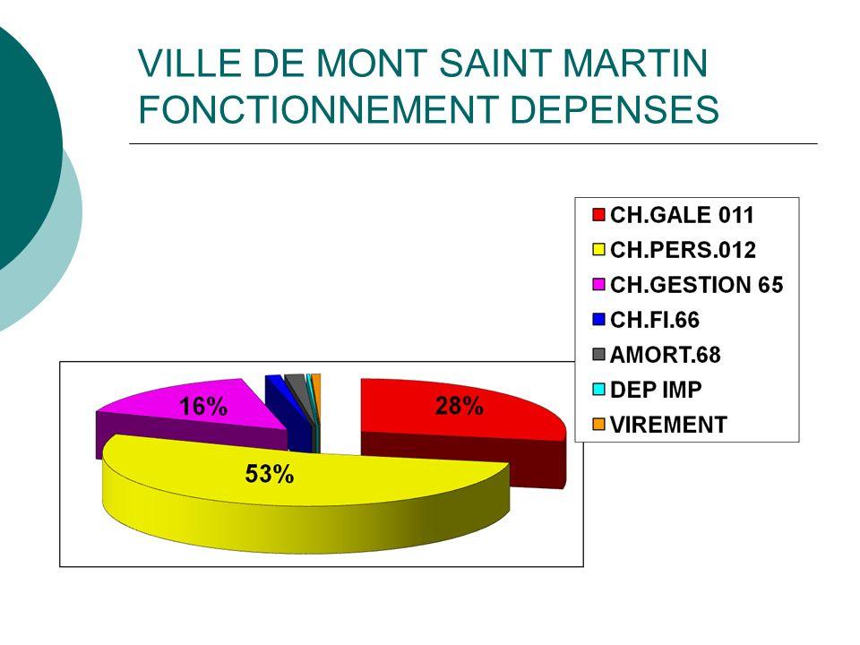 VILLEDE MONT ST MARTIN INVESTISSEMENT DEPENSES