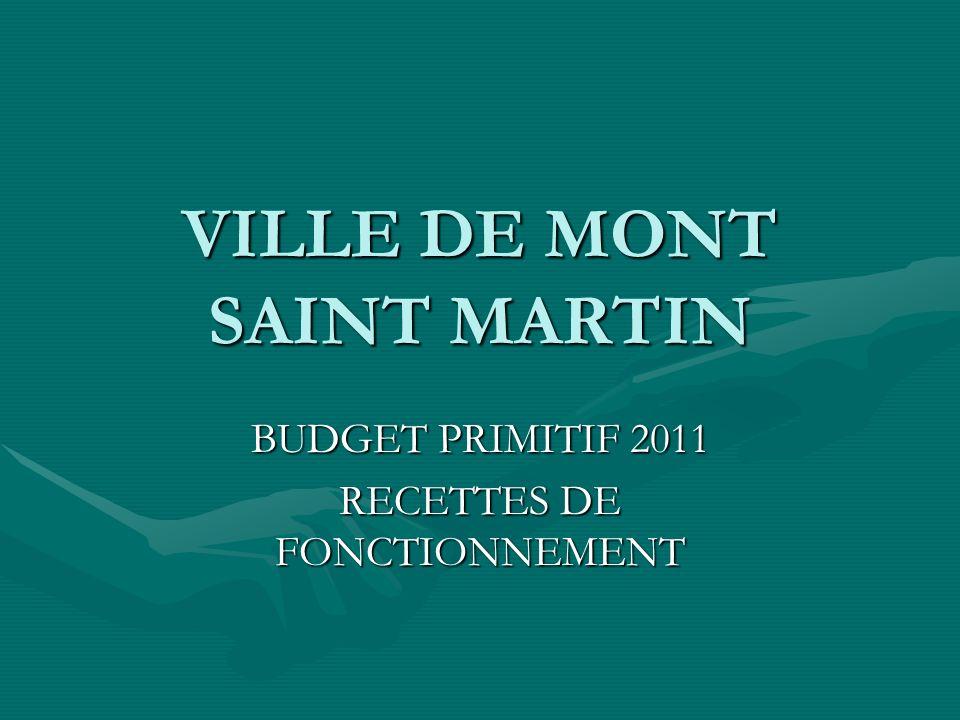 VILLE DE MONT SAINT MARTIN BUDGET PRIMITIF 2011 RECETTES DE FONCTIONNEMENT