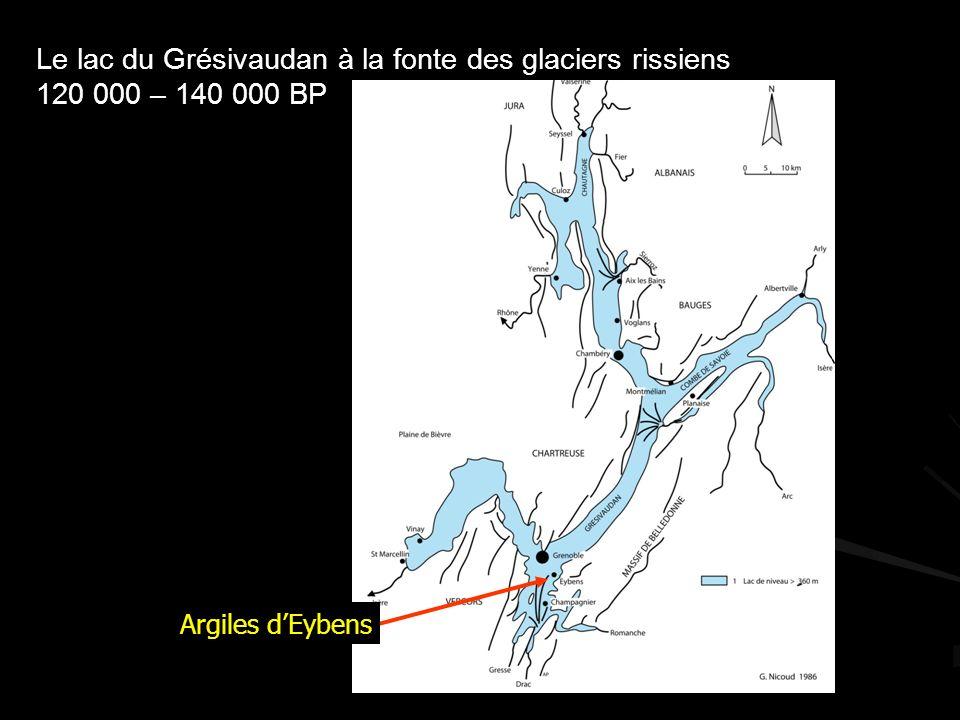 Le lac du Grésivaudan à la fonte des glaciers rissiens 120 000 – 140 000 BP Argiles dEybens