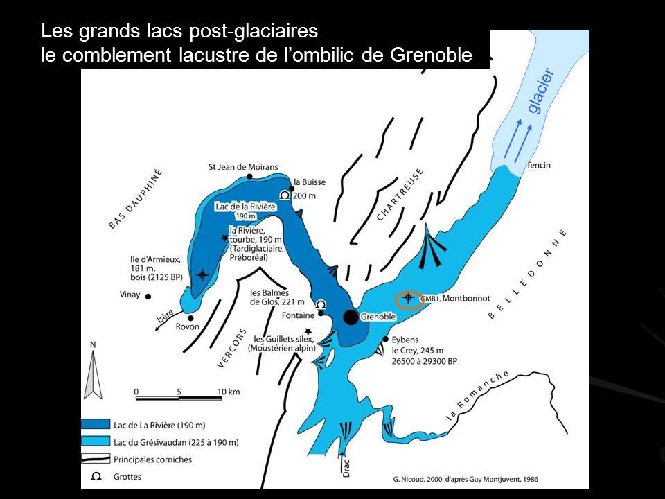 Les grands lacs post-glaciaires le comblement lacustre de lombilic de Grenoble glacier