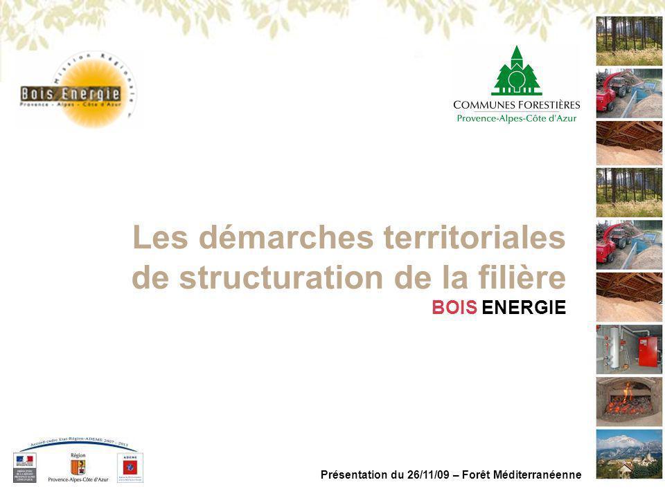 Présentation du 26/11/09 – Forêt Méditerranéenne Les démarches territoriales de structuration de la filière BOIS ENERGIE
