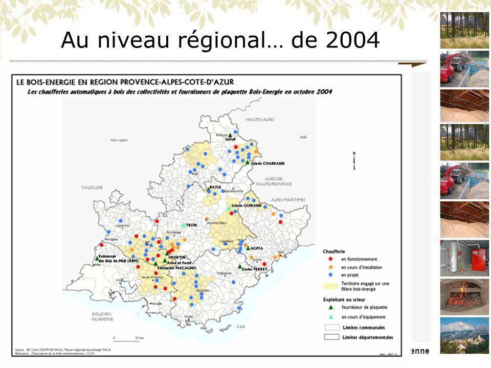 MISSION REGIONALE BOIS ENERGIE PACA Présentation du 26/11/09 – Forêt Méditerranéenne …à 2008 (bois déchiqueté)