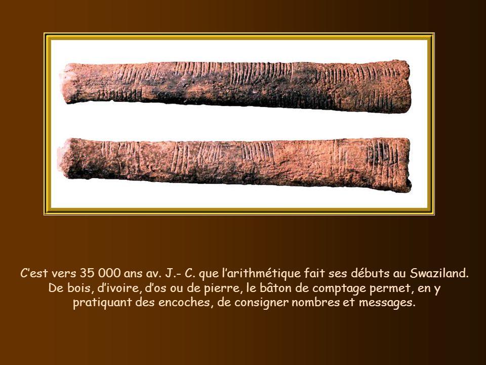 Nos ancêtres inventent la pêche à la ligne avec hameçon vers 35 000 av. J.- C. Ci-dessus ces hameçons préhistoriques possèdent une barbe qui interdit