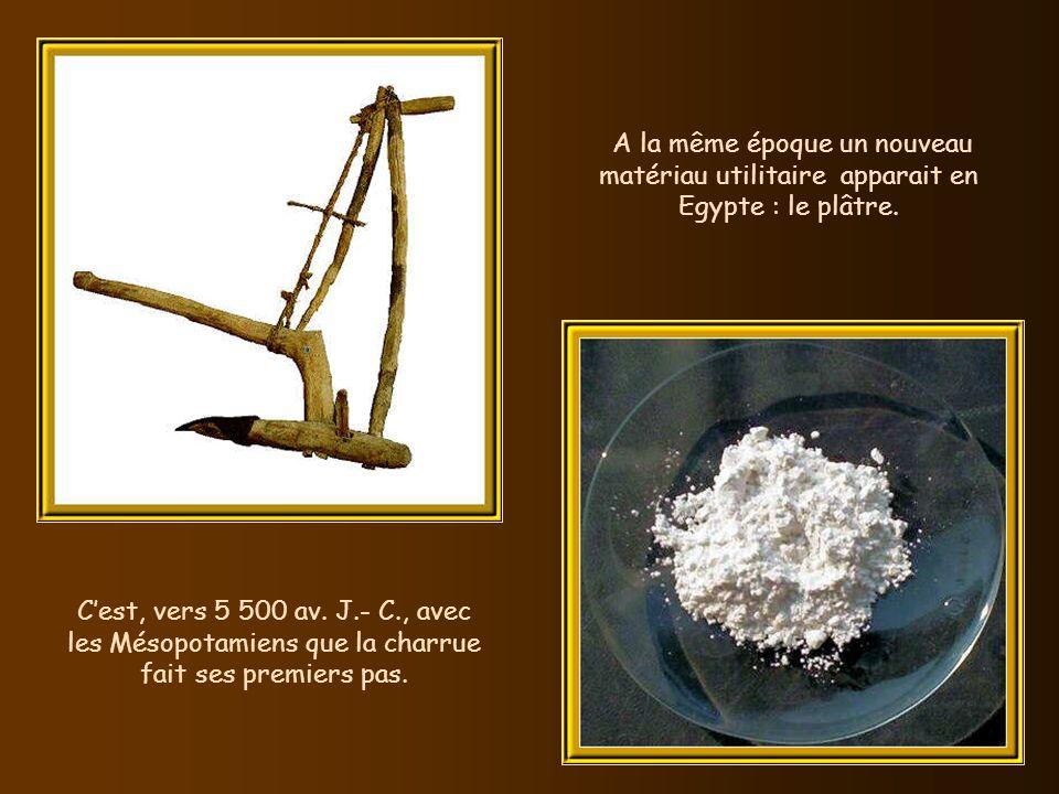 Vers 6 000 av. J.- C., les Sumériens pallient labsence de pluie en inventant lirrigation. Cela leur permet de semer et planter ailleurs que sur les ri