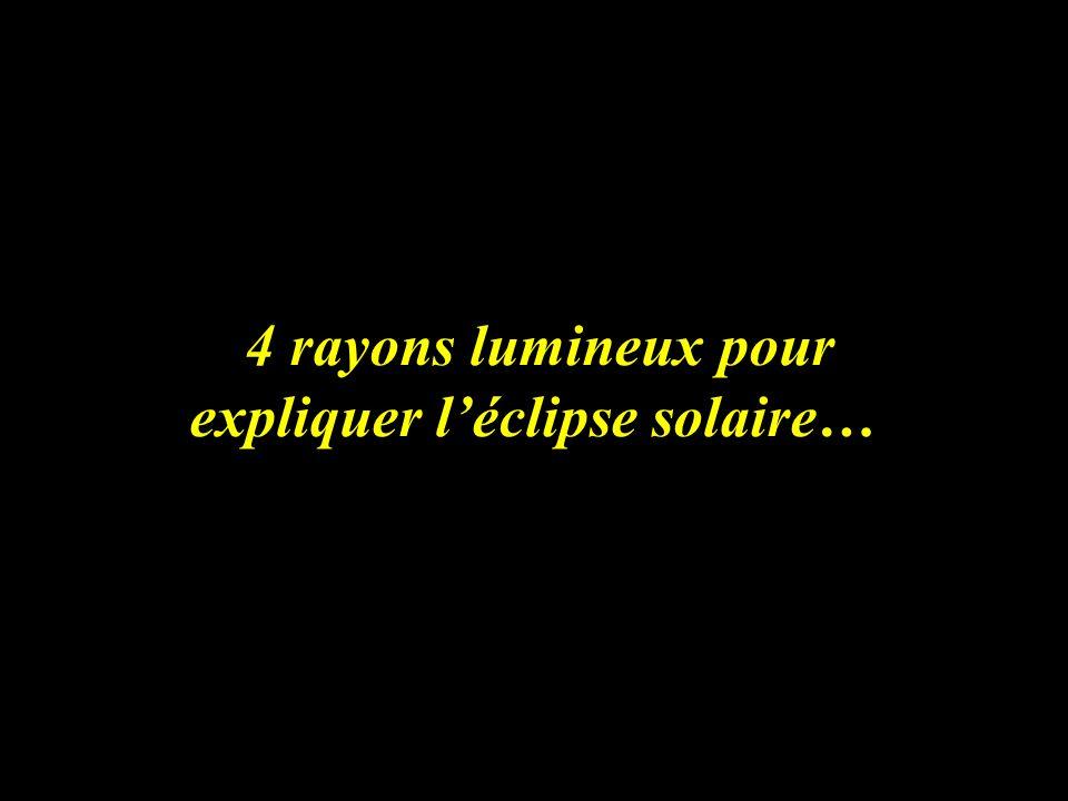 4 rayons lumineux pour expliquer léclipse solaire…