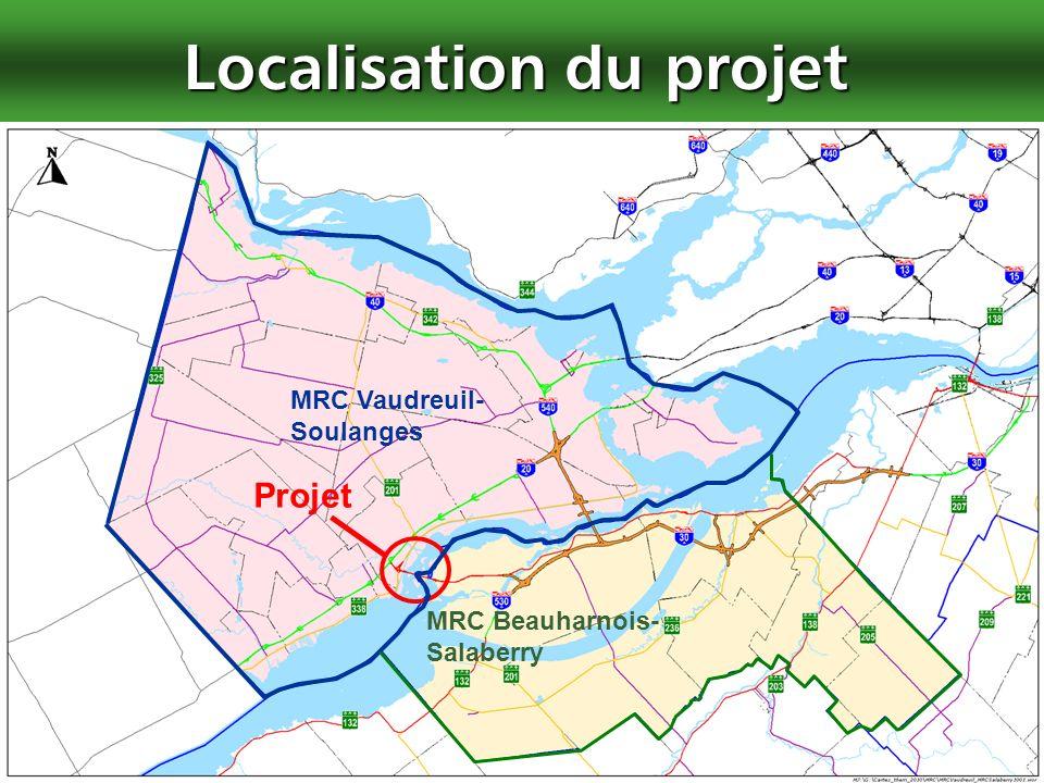 3 Localisation du projet MRC Vaudreuil- Soulanges MRC Beauharnois- Salaberry Projet