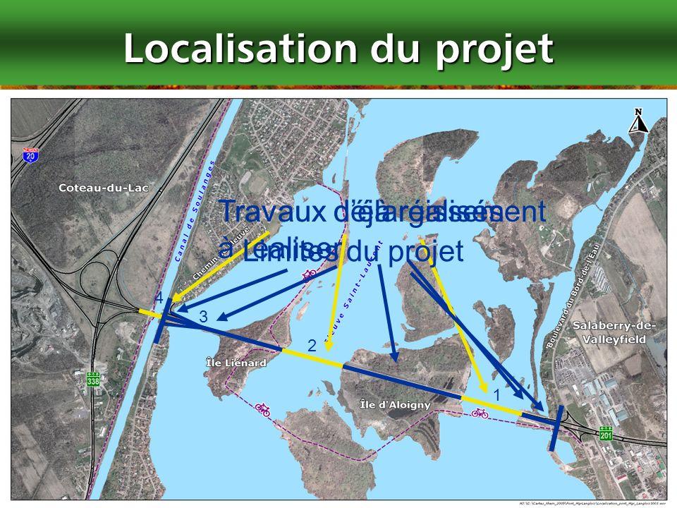 4 Localisation du projet Travaux délargissement à réaliser 2 3 1 4 Travaux déjà réalisés Limites du projet