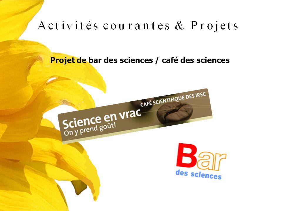 Projet de bar des sciences / café des sciences