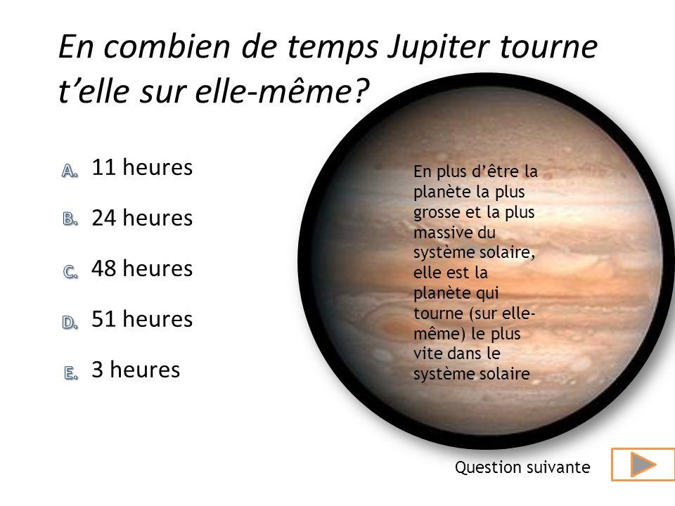Quel est lordre des 4 premiers satellites de Jupiter (du plus près au plus loin). réponse Et plus loin donc Callisto. Ici, Ganymède et Europe sont inv