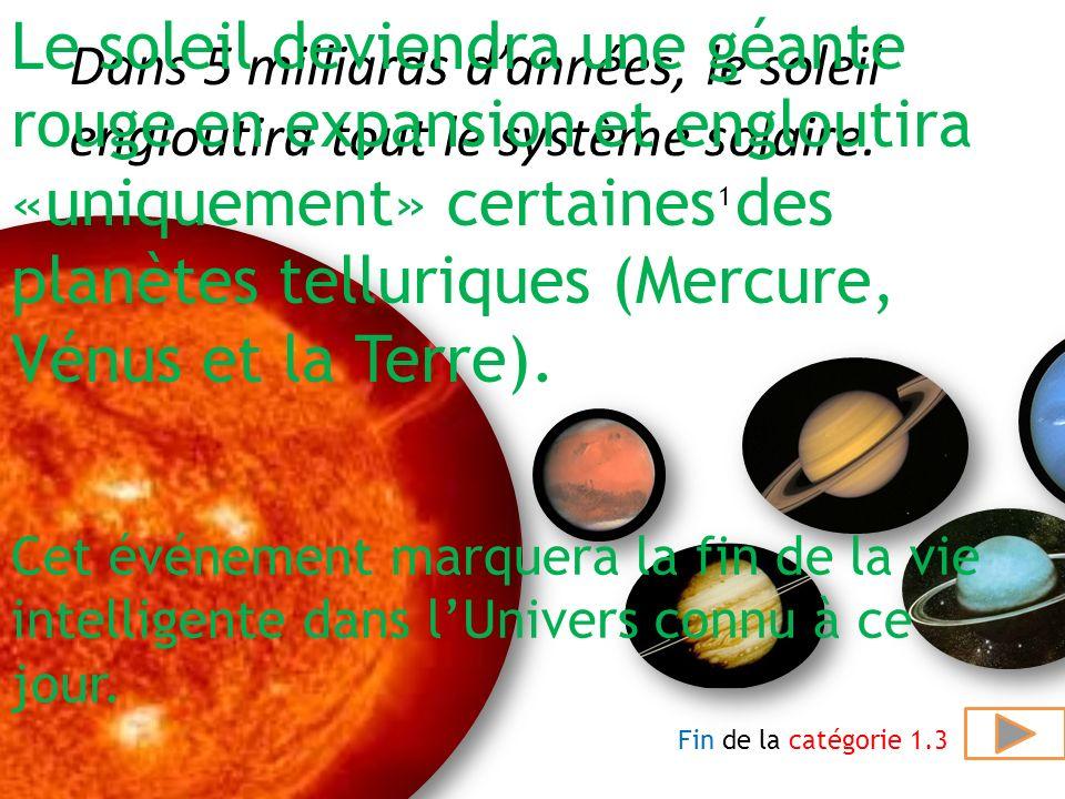 Quel est la température au centre du soleil? Et dans la photosphère elle est de 6.000°C (environ). réponseQuestion suivante