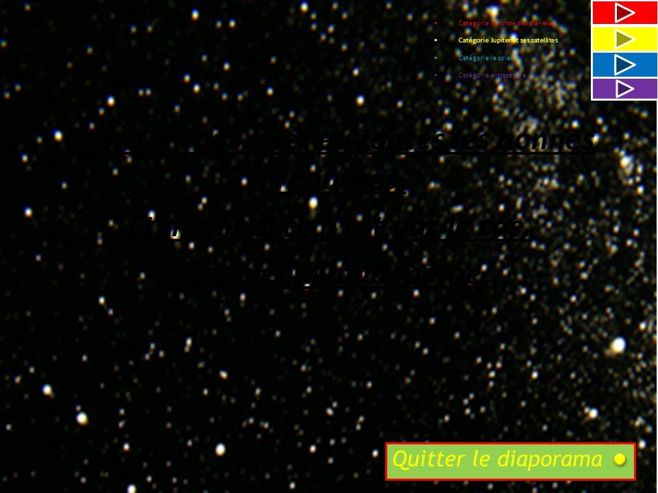 VRAI ou FAUX ? «Véga de la lyre»(au centre de limage) deviendra la nouvelle étoile indiquant le Nord? Fin de la catégorie 2.1 et du questionnaire