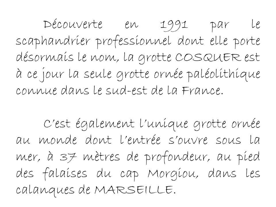 Henri Cosquer, au pied des calanques entre Marseille et Cassis