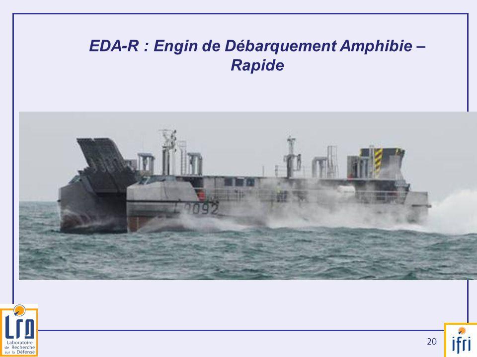 20 EDA-R : Engin de Débarquement Amphibie – Rapide