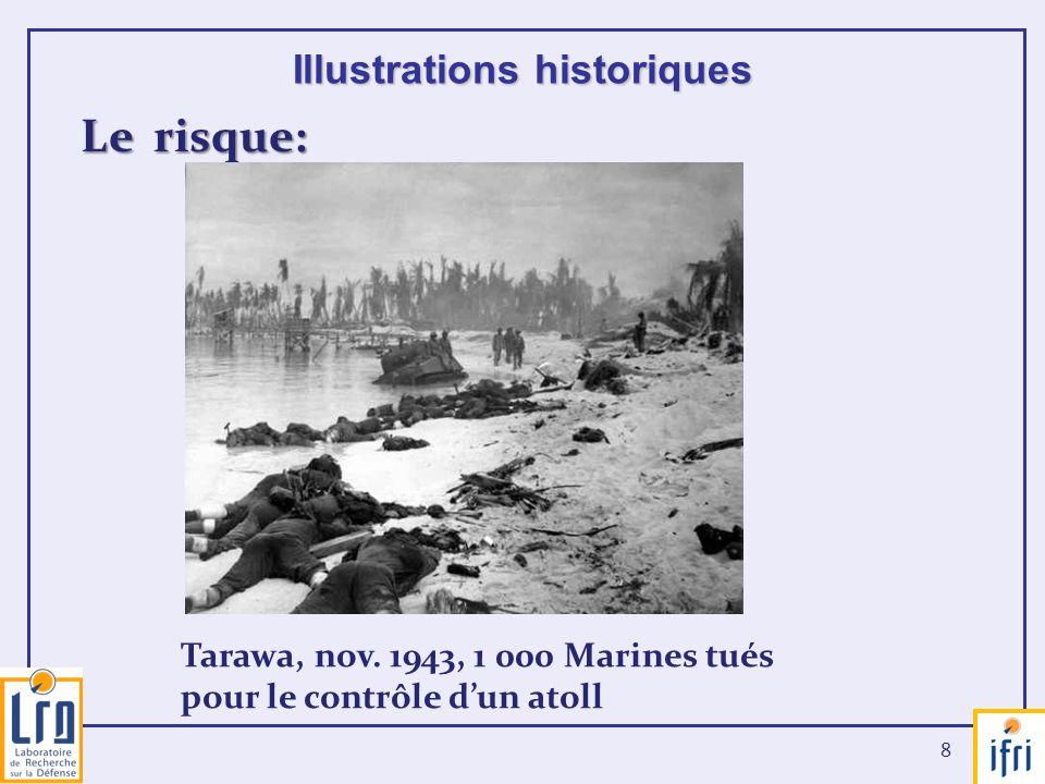 8 Illustrations historiques Le risque: Tarawa, nov. 1943, 1 000 Marines tués pour le contrôle dun atoll